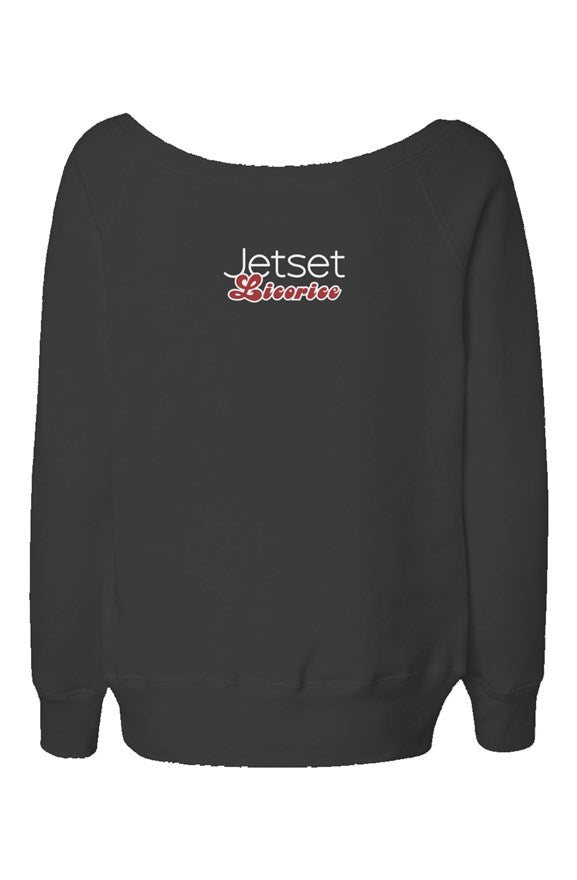 Jetset Licorice Women's wide neck sweatshirt - Resort Pop
