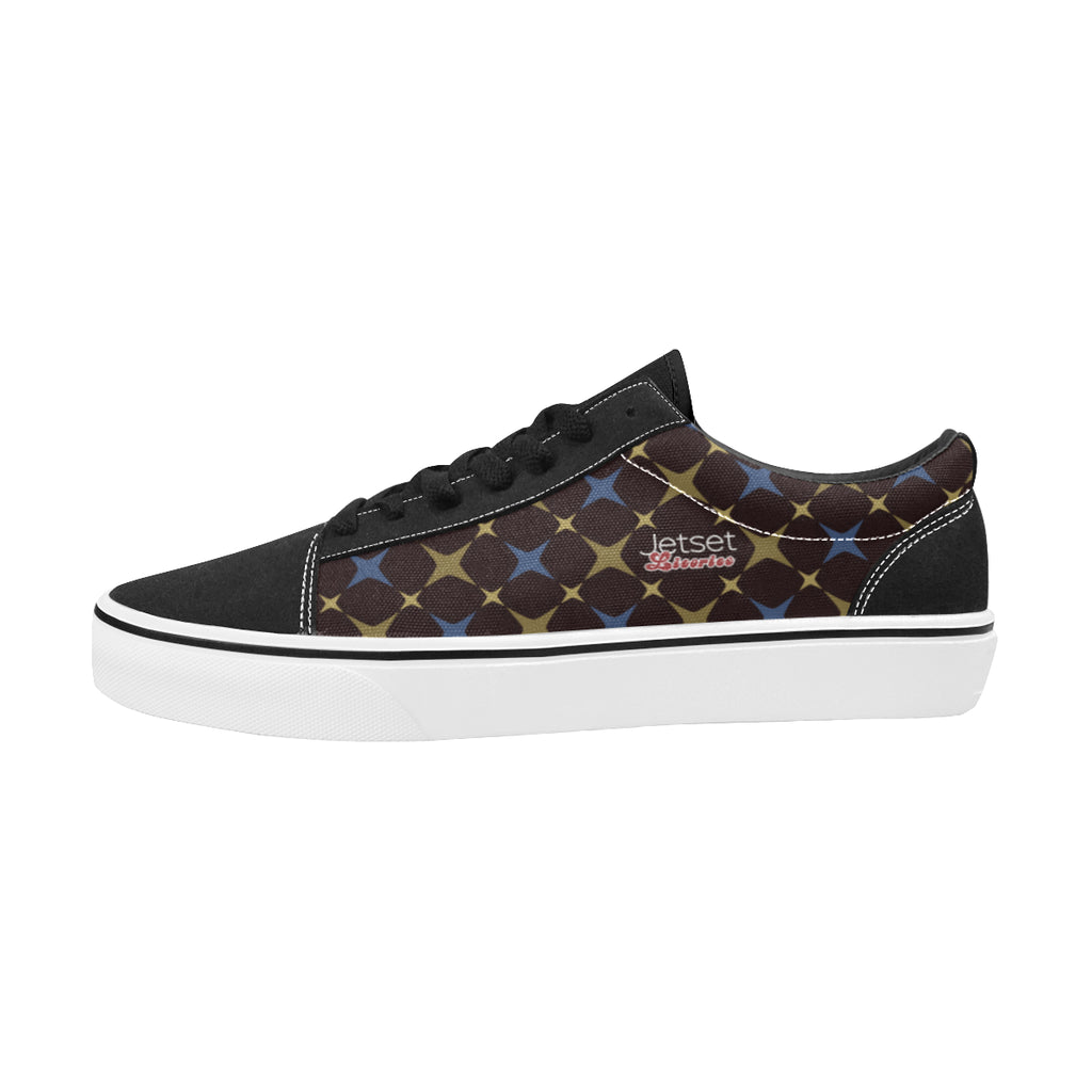 Jetset Licorice Designer Collection Men skate low top shoe (blue-brown) - Resort Pop