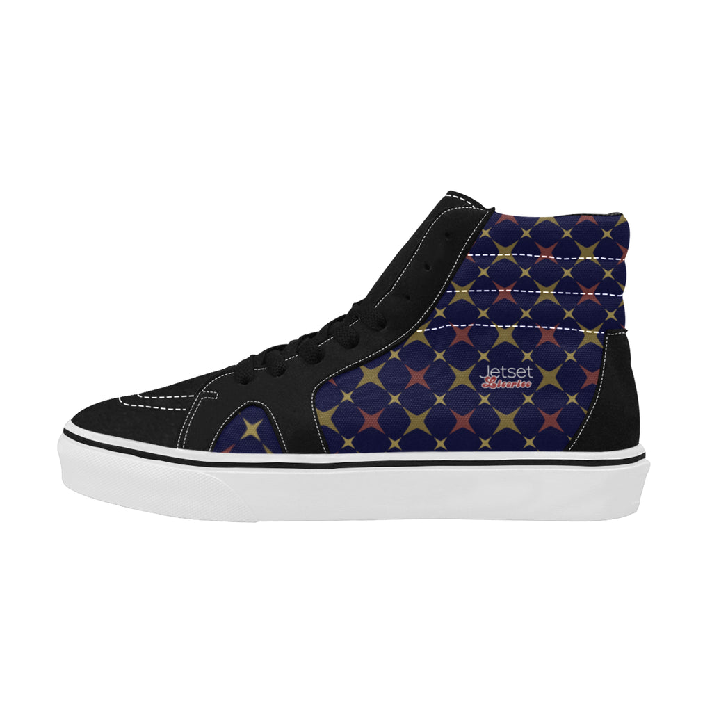 Jetset Licorice Designer Collection Women skate high top shoe (red-blue) - Resort Pop