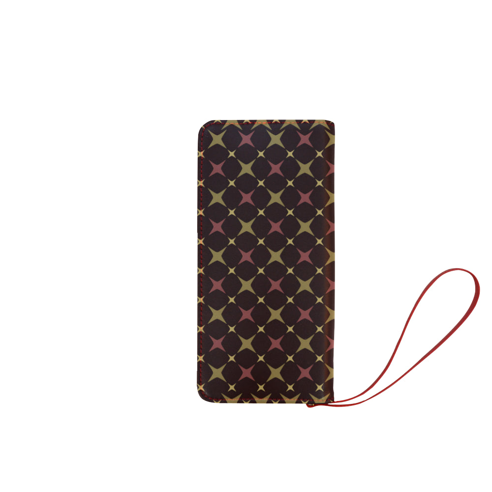 Jetset Licorice Designer Collection clutch wallet (red-dark brown) - Resort Pop