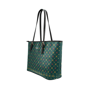 Jetset Licorice Designer Collection leather tote bag - small (red-emerald) - Resort Pop