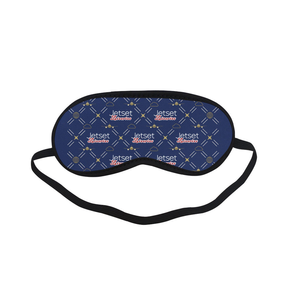 Jetset Licorice Inflight Collection traveling sleep mask (blue) - Resort Pop