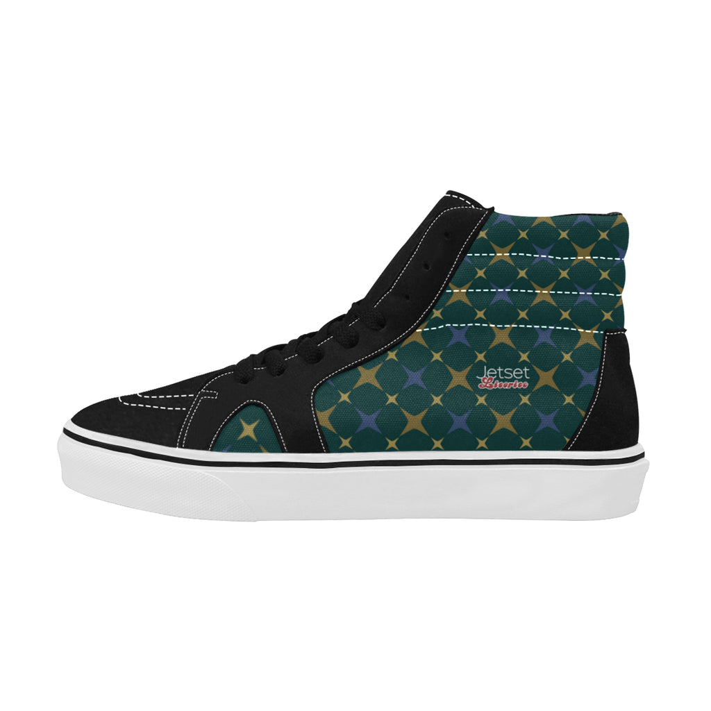 Jetset Licorice Designer Collection Women skate high top shoe (blue-emerald) - Resort Pop
