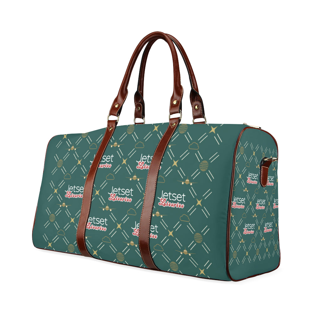 Jetset Licorice travel bag Inflight Collection (emerald/brown) - Resort Pop