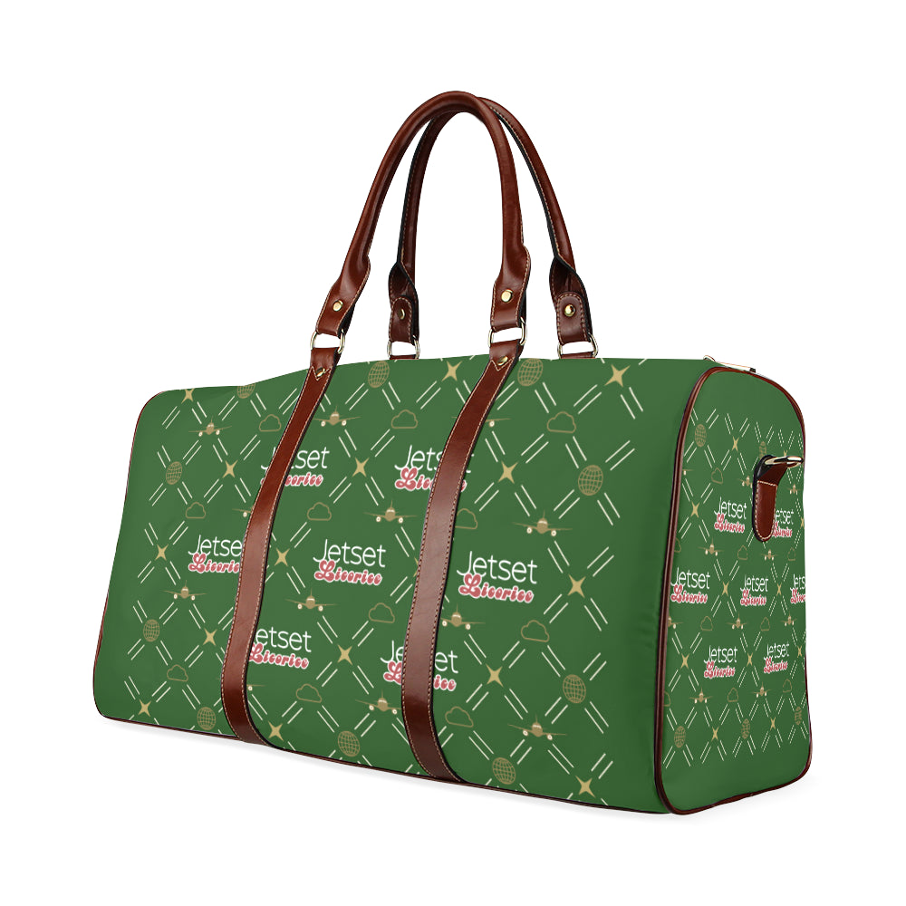 Jetset Licorice travel bag Inflight Collection (green/brown) - Resort Pop