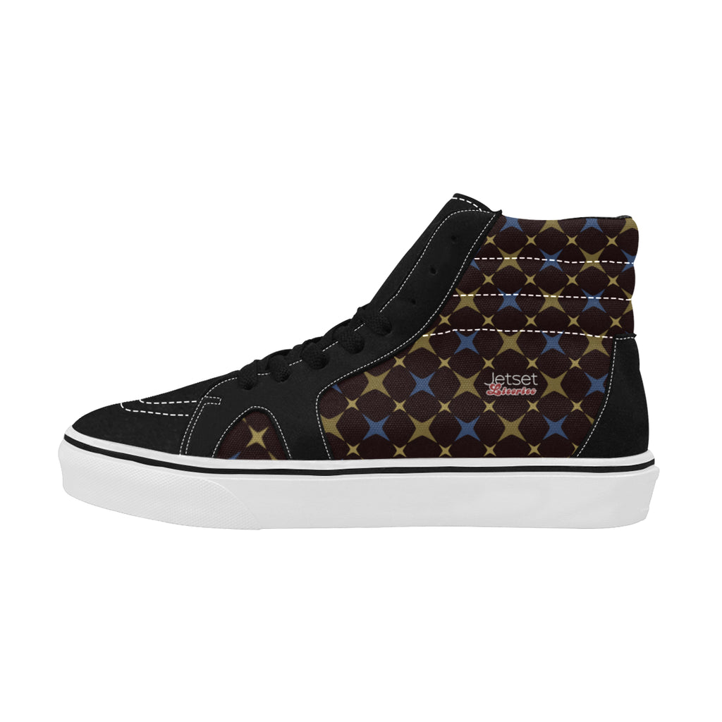 Jetset Licorice Designer Collection Women skate high top shoe (blue-brown) - Resort Pop