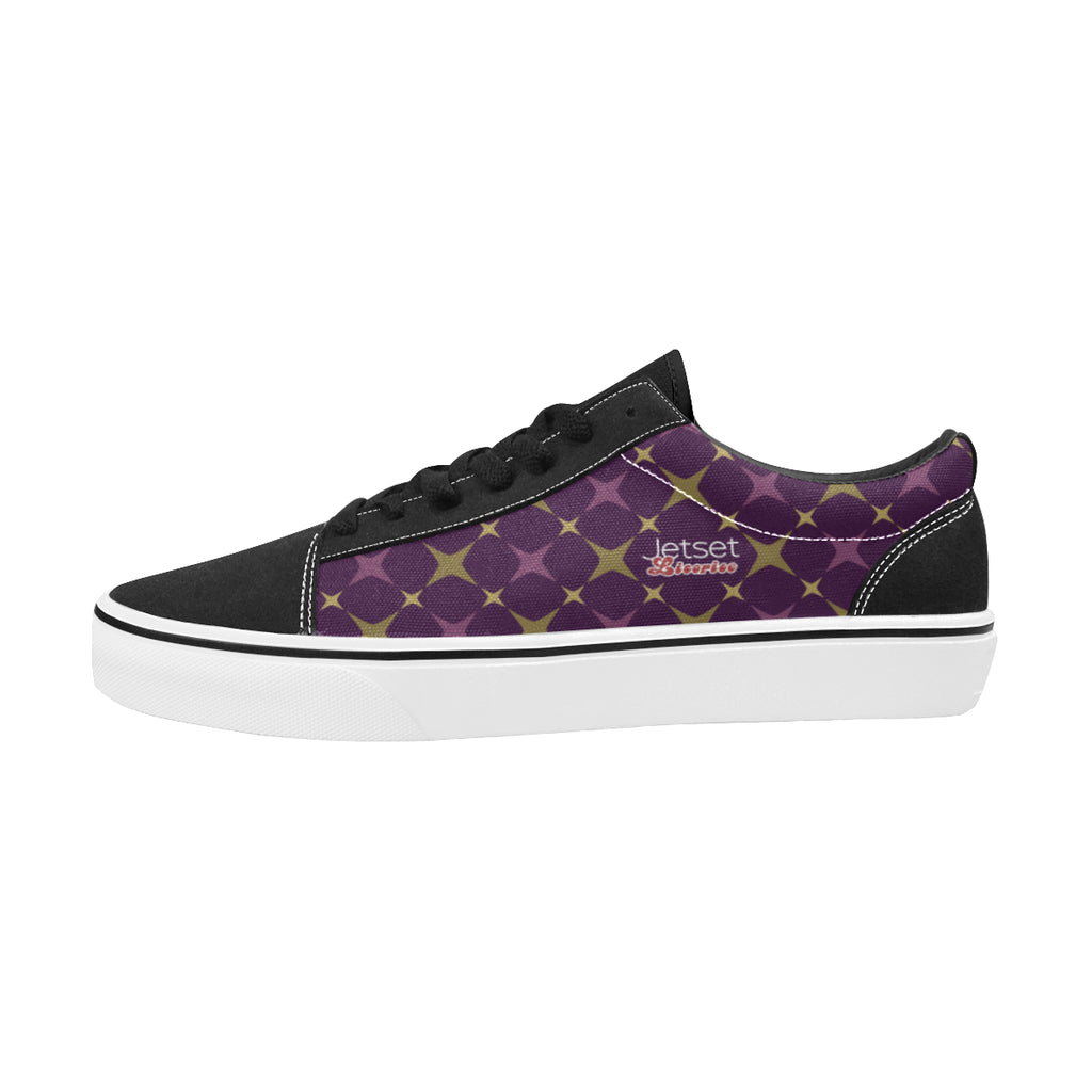 Jetset Licorice Designer Collection Men skate low top shoe (purple-purple) - Resort Pop