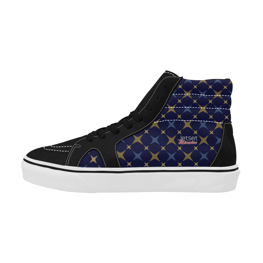 Jetset Licorice Designer Collection Women skate high top shoe (blue-blue) - Resort Pop