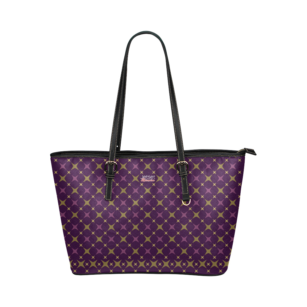 Jetset Licorice Designer Collection leather tote bag - small (purple-purple) - Resort Pop