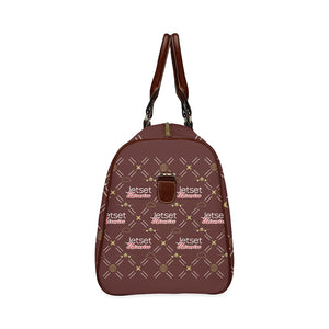 Jetset Licorice travel bag Inflight Collection (red/brown) - Resort Pop