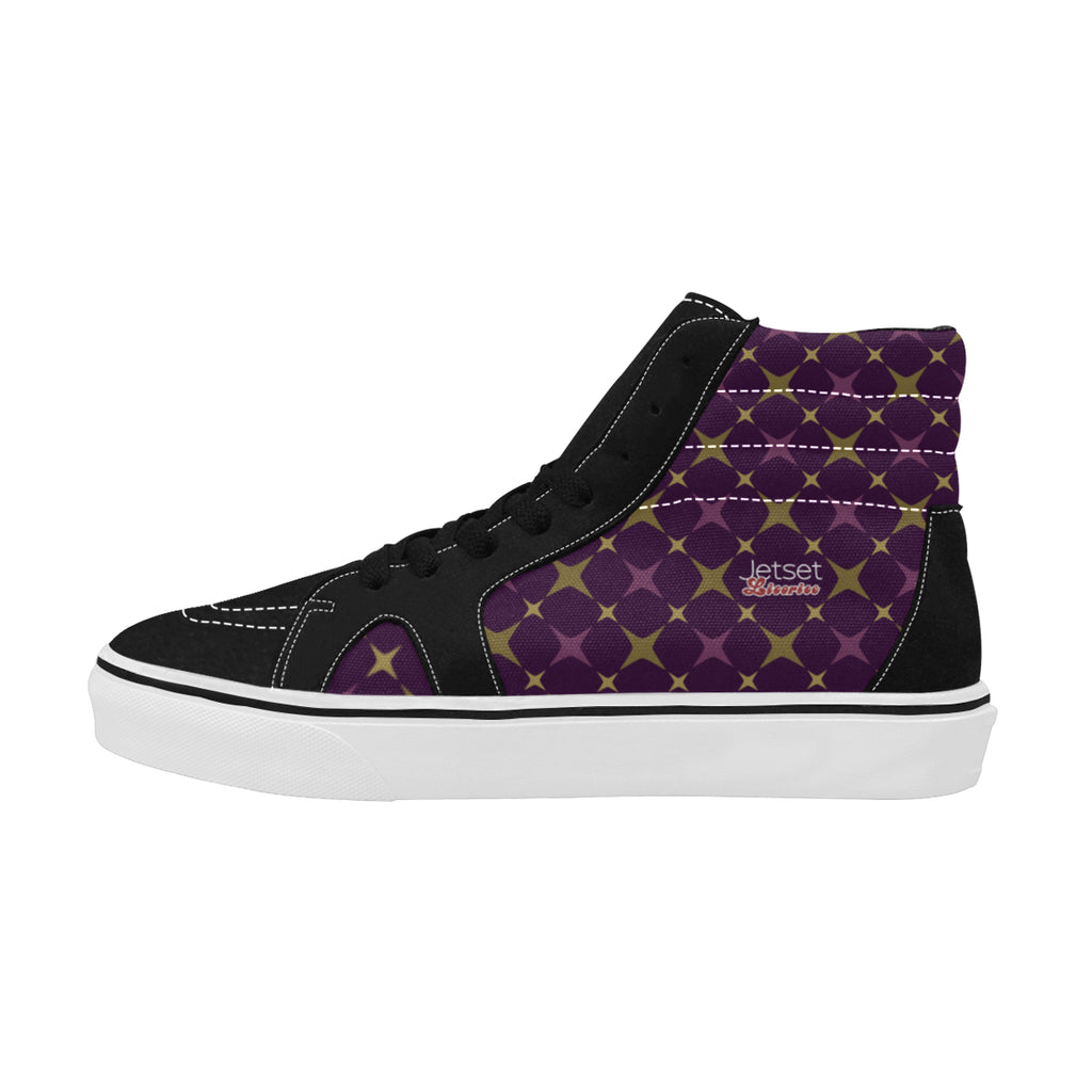 Jetset Licorice Designer Collection Women skate high top shoe (purple-purple) - Resort Pop