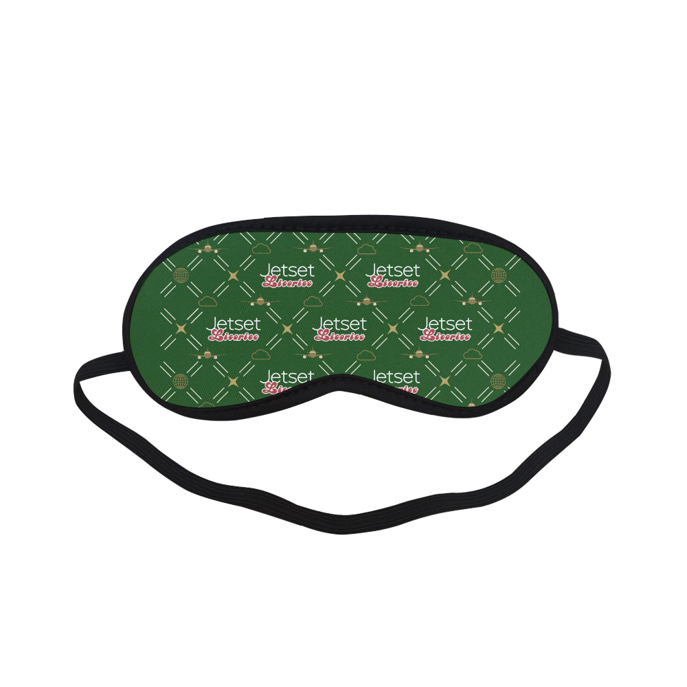Jetset Licorice Inflight Collection traveling sleep mask (green) - Resort Pop