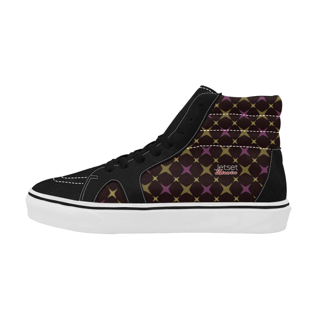 Jetset Licorice Designer Collection Women skate high top shoe (purple-brown) - Resort Pop