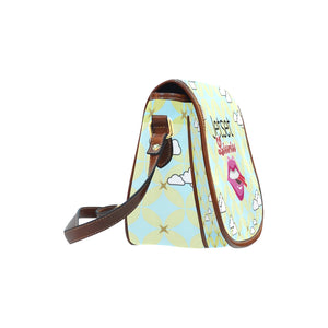 Jetset Licorice JuicySweet Collection saddle bag - small (aquamarine/brown) - Resort Pop