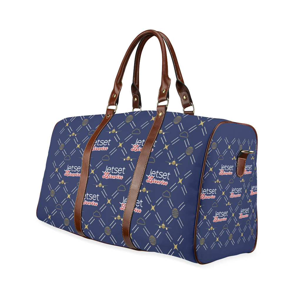 Jetset Licorice travel bag Inflight Collection (blue/brown) - Resort Pop