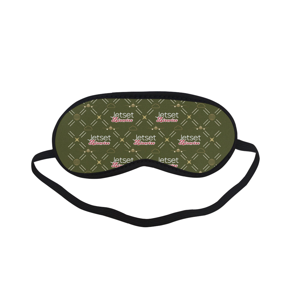 Jetset Licorice Inflight Collection traveling sleep mask (olive) - Resort Pop