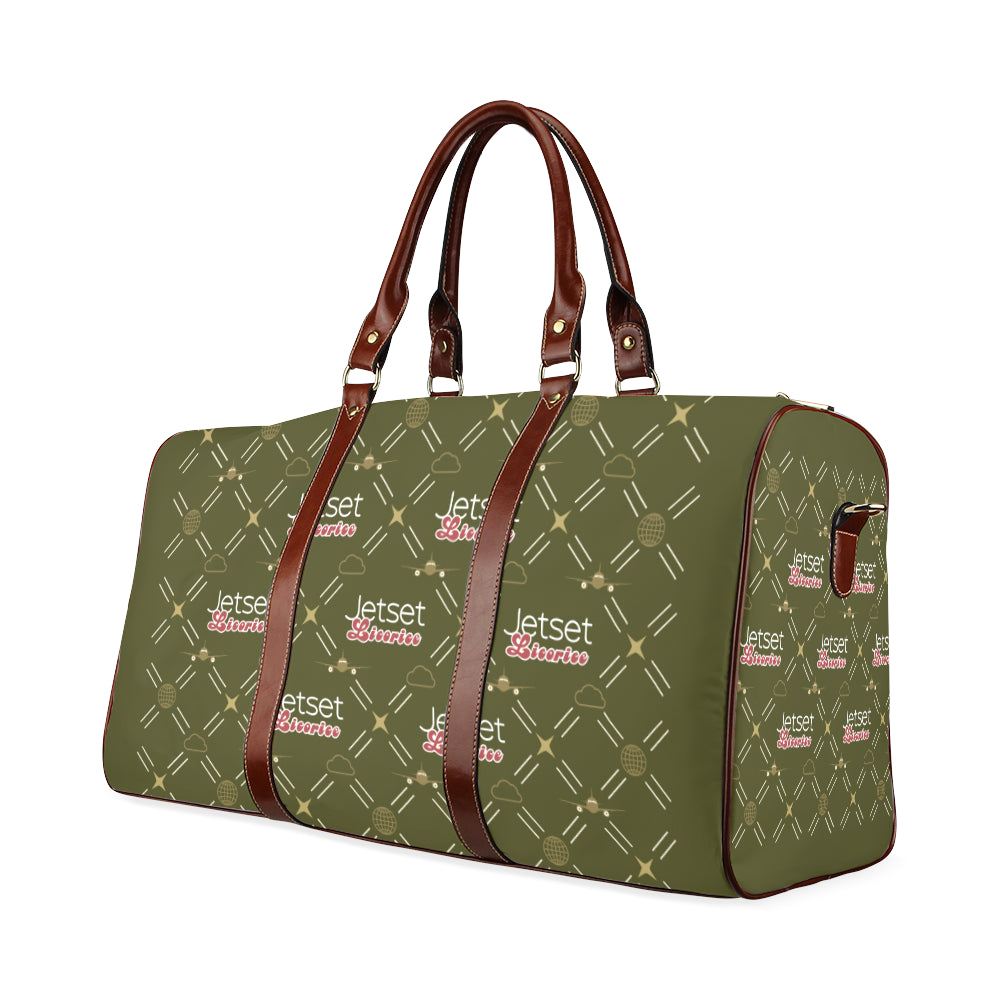 Jetset Licorice travel bag Inflight Collection (olive/brown) - Resort Pop