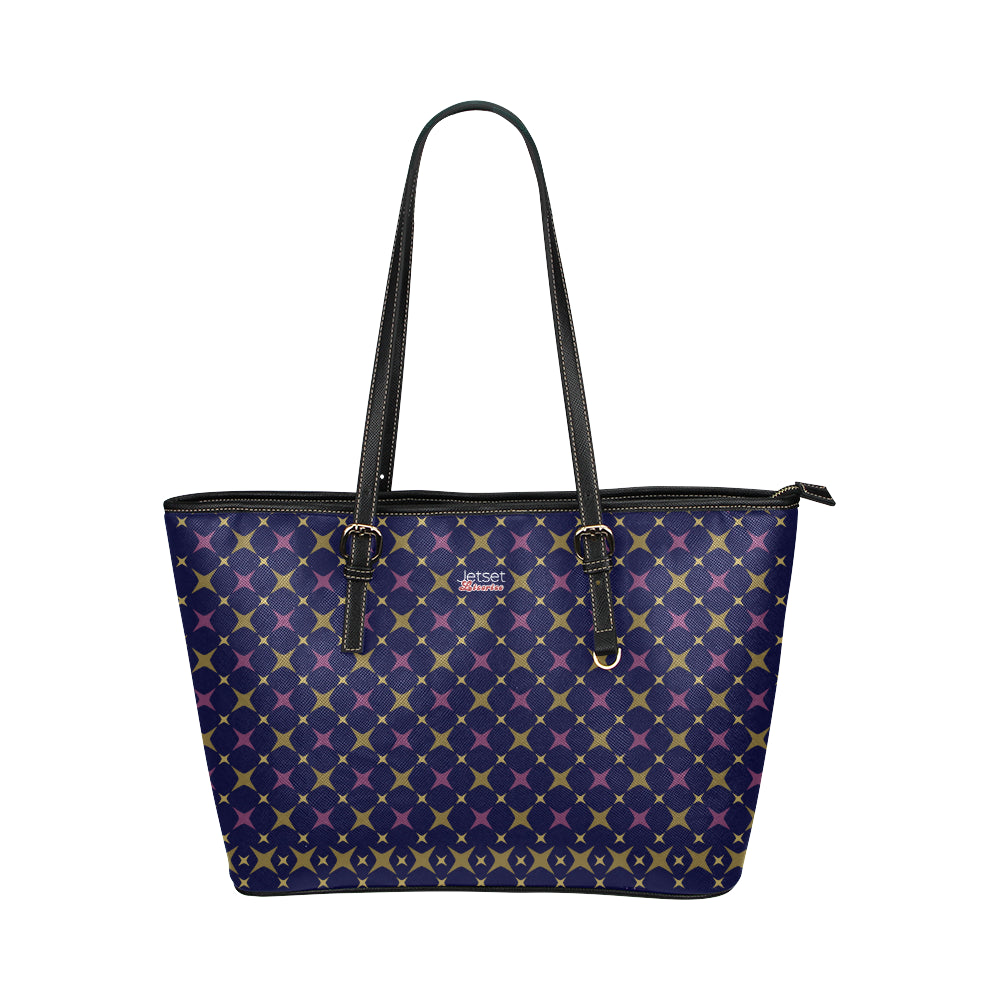 Jetset Licorice Designer Collection leather tote bag - small (purple-blue) - Resort Pop