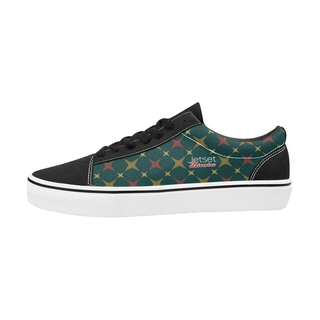 Jetset Licorice Designer Collection Men skate low top shoe (red-emerald) - Resort Pop
