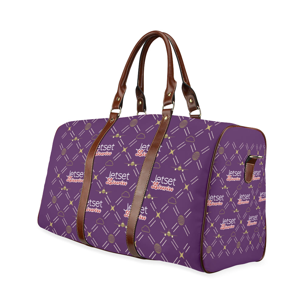 Jetset Licorice travel bag Inflight Collection (purple/brown) - Resort Pop