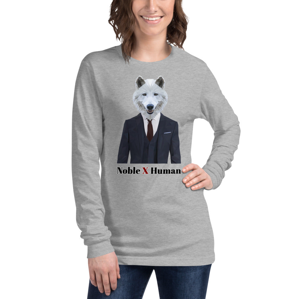 Wolf Nobility unisex long sleeve tee | Noble X Human - Resort Pop