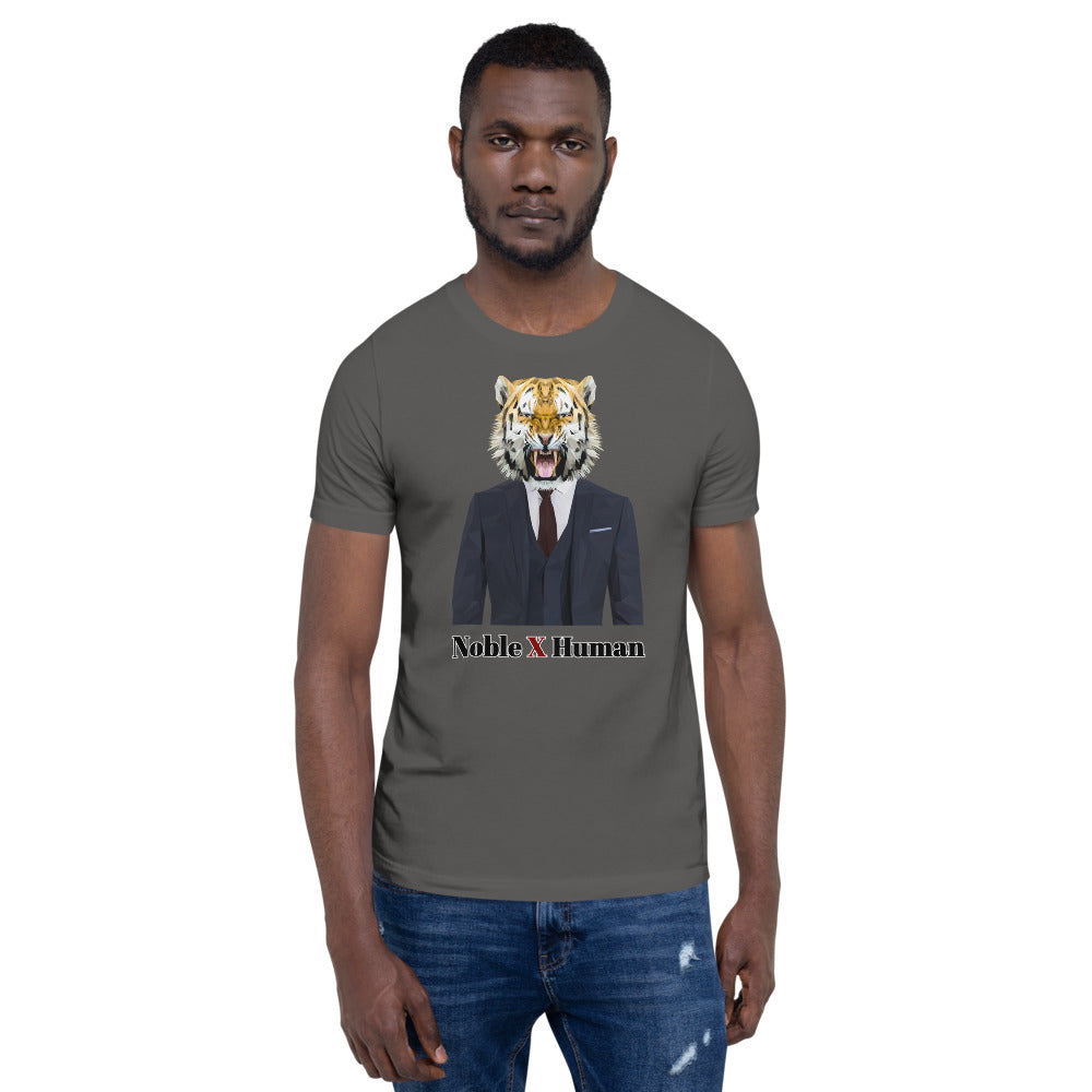 Tiger Nobility short-sleeve unisex t-shirt | Noble X Human - Resort Pop