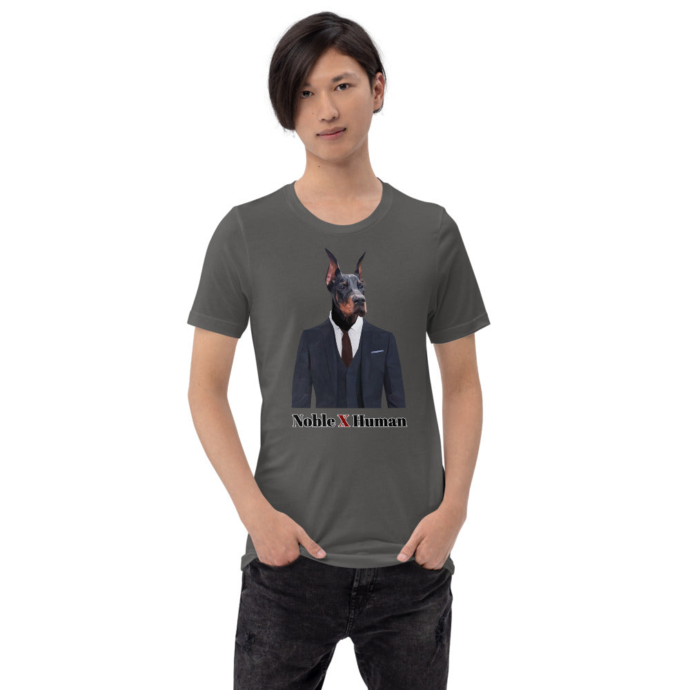 Doberman Nobility short-sleeve unisex t-shirt | Noble X Human - Resort Pop