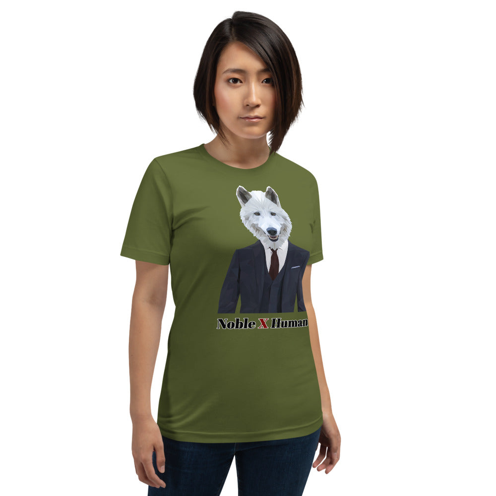 Wolf Nobility short-sleeve unisex t-shirt | Noble X Human - Resort Pop