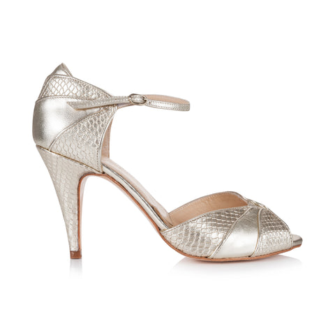 GIGI - High Heel Brautschuh in Gold