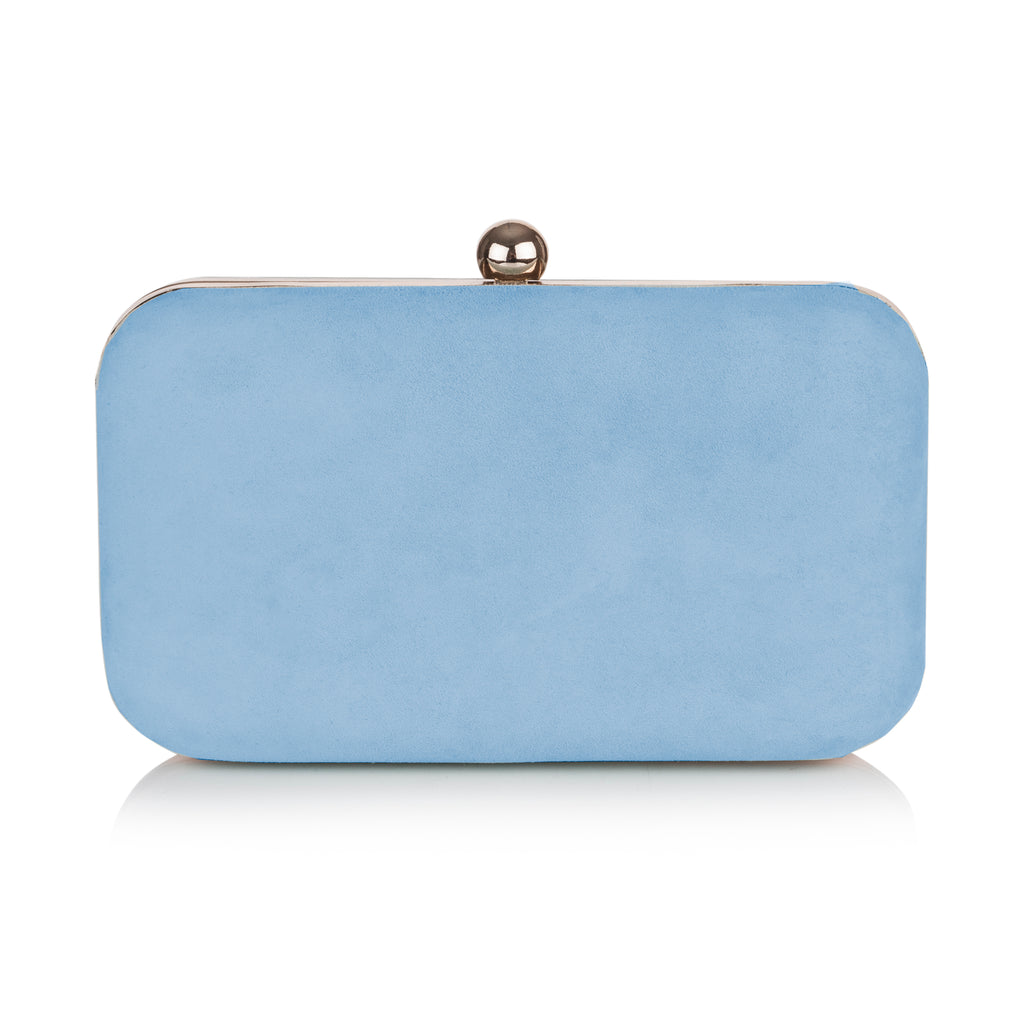 COCO - Box Clutch von Rachel Simpson Shoes in hellem Blau // AUSLAUFMODELL