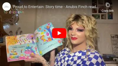 "Proud to Entertain: Story time - Anubis Finch reads ""We Are The Groovicorns"""