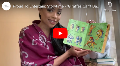 "Proud To Entertain: Storytime - ""Giraffes Can't Dance"" read by @ashstrd"