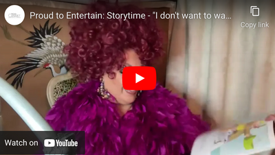 "Proud to Entertain: Storytime - ""I don't want to wash my hands"" read by Dolly Rocket"