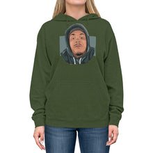 Load image into Gallery viewer, Mic QA Face Logo - Unisex Lightweight Hoodie