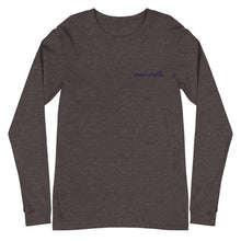 Load image into Gallery viewer, Embroidered Over South Text Logo (Navy Text) - Unisex Long Sleeve Tee