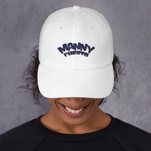 Load image into Gallery viewer, Manny Phesto Text Logo (Navy Text) Dad Hat