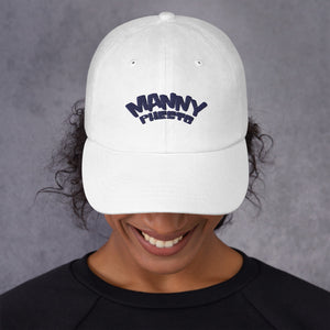 Manny Phesto Text Logo (Navy Text) Dad Hat