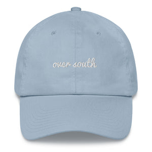 Over South Text Logo (White Text) Embroidered Dad Hat