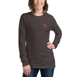Embroidered Blood Orange Logo - Unisex Long Sleeve Tee
