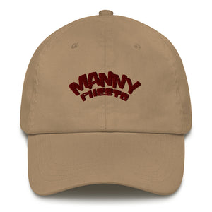 Manny Phesto Text Logo (Sexy Red Text) Embroidered Dad Hat