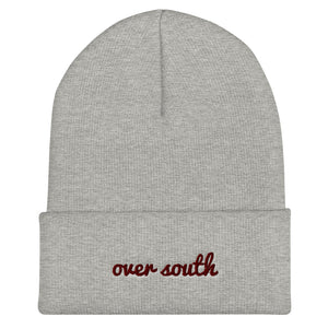 Over South Text Logo (Sexy Red Text) Cuffed Beanie
