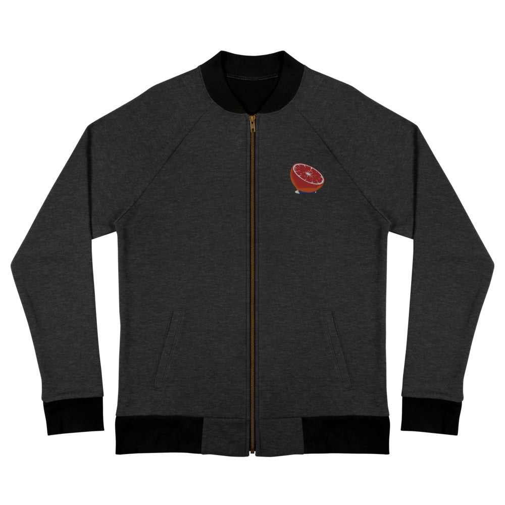 Embroidered Blood Orange - Bomber Jacket