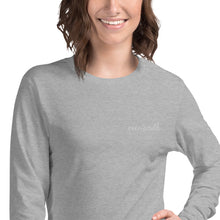 Load image into Gallery viewer, Embroidered Over South Text Logo (White Text) Unisex Long Sleeve Tee