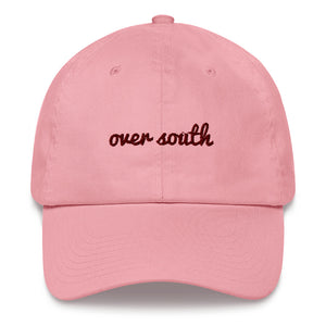 Over South Text Logo (Sexy Red Text) Embroidered Dad Hat