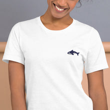 "Load image into Gallery viewer, Embroidered Seward ""Sharks"" - Short-Sleeve Unisex T-Shirt"