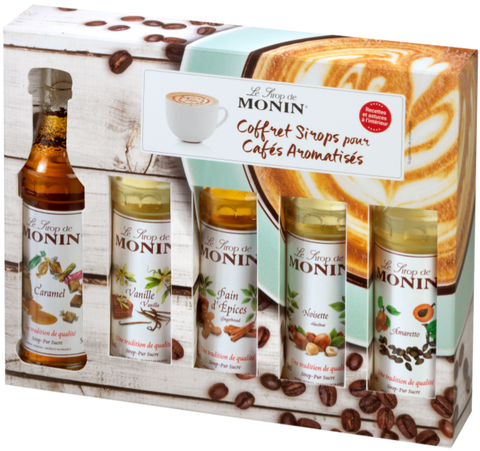 Monin mini koffiesiropen set