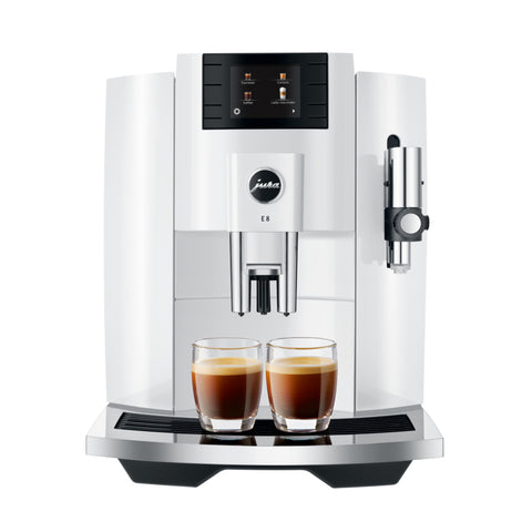 jura e8 koffiemachine piano white