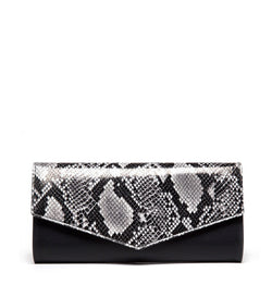 New Canaan Clutch, Black and Snake