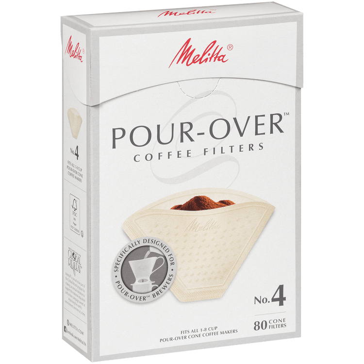 Melitta® #4 Pour-Over Filter Paper