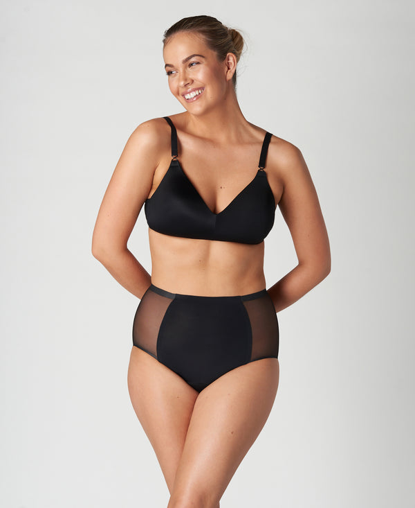 Seamless Leak-Proof Mesh High Waist